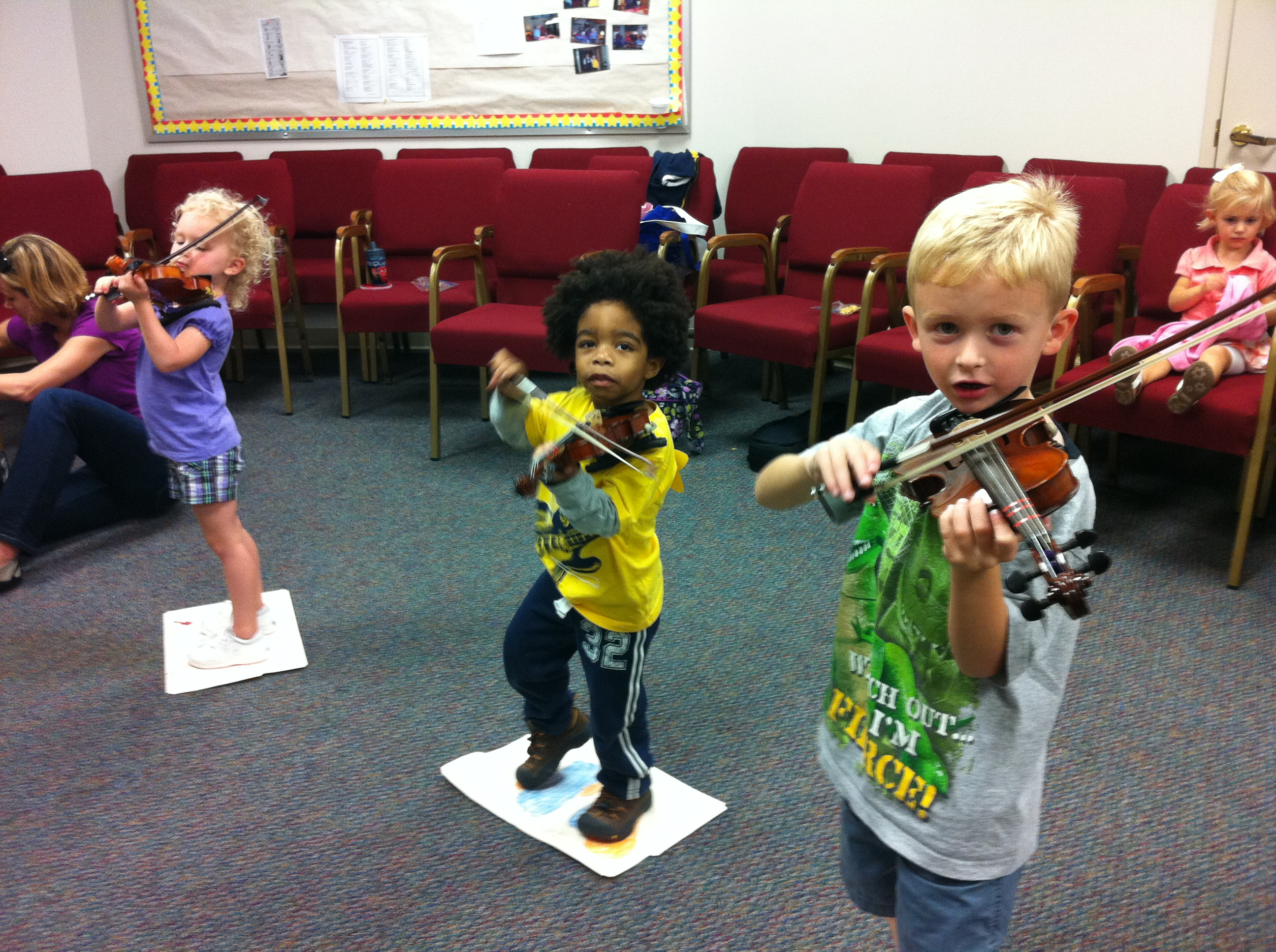 Students of Twinkler Violin class